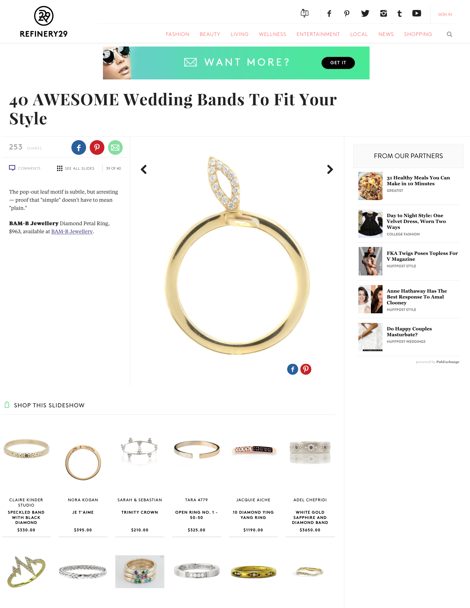 BAM-B JEWELLERY featured with Refinery29