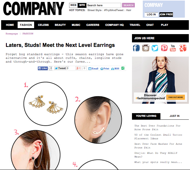 Bam-b jewellery lobe earring