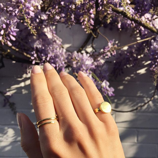 Wisteria 🌿BAM-B spiral ring + signet (you can personalise) #gold #tones #springstyling #love