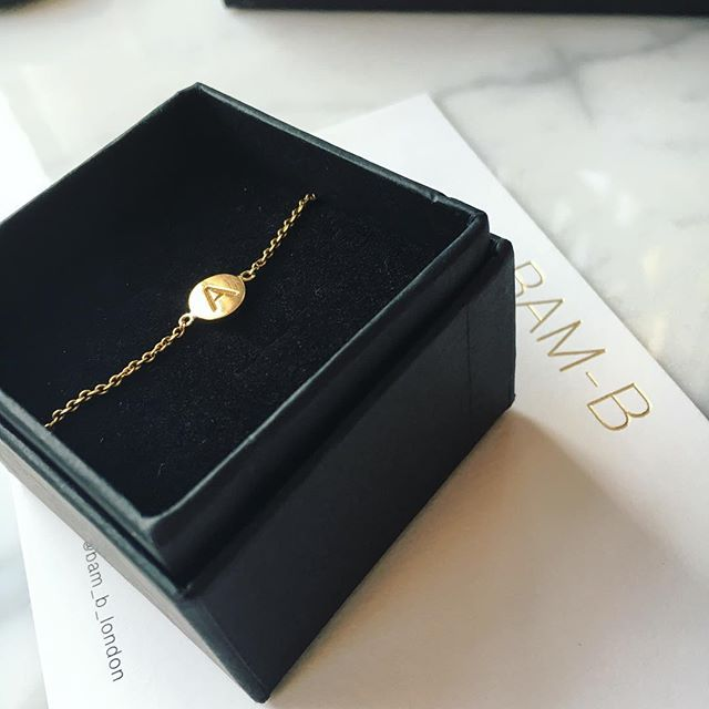 Personalised initial bracelet - makes the perfect gift 👌🏼sign up to our newsletter for a discount :) #jewellerydesign #engravedjewelry #giftsforher #springstyling #details