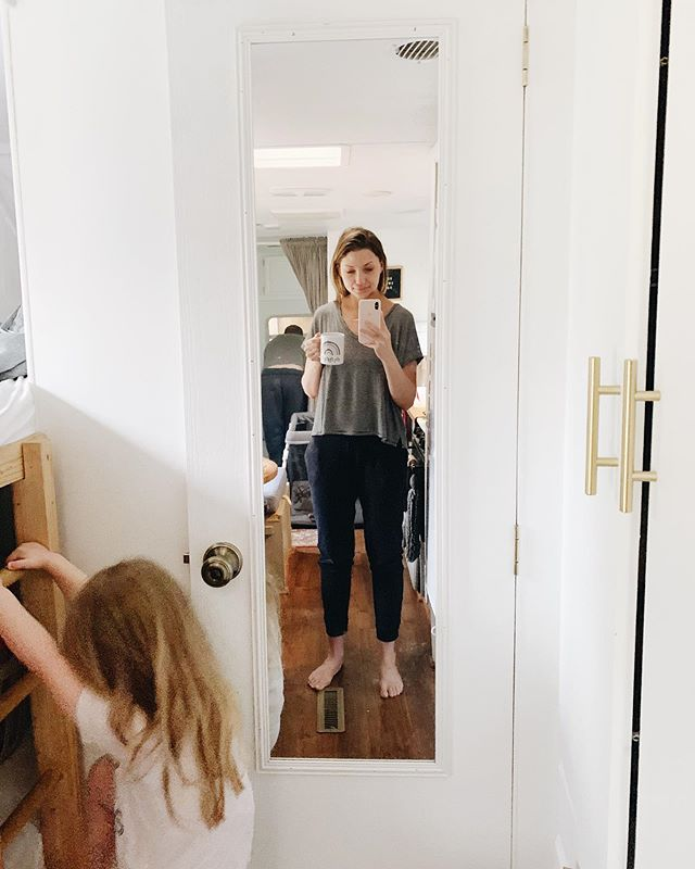 Gratitude fills my soul today. This little space, my little wildings, my husband, our community and this season that feels like it's been going on for way to long. But good things take time. . Remembering this and focusing on our priorities has me all grateful. Also, yes that's Derek in the background bending over. He's being a saint and changing a poopy diaper ✨🙌🏼