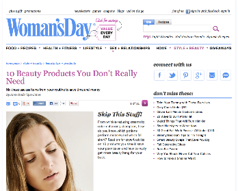 Woman'sDay: 10 Beauty Products You Really Don't Need