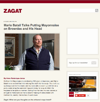 Zagat: Mario Batali Interview