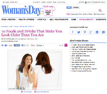 Woman's Day: 10 Food and Drinks That Make You Look Older Than You Are