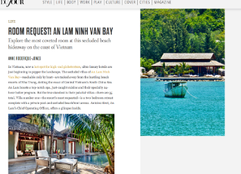 DuJour Magazine January Issue: An Lan Bay Hotel Review