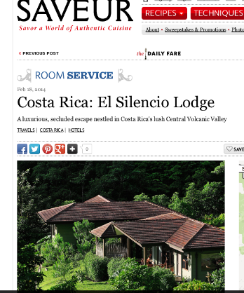 Saveur Magazine, Room Service: Costa Rica: El Silencio Lodge Review