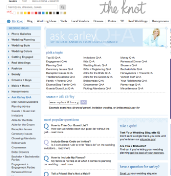 Ask Carley on The Knot.com Ghost Writing Wedding Etiquette Questions