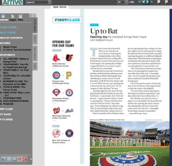 Arrive Magazine, March/April 2013 Issue SPORTS: Up To Bat: An Interview with Harold Reynolds on Opening Day