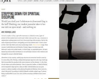DuJour Magazine: Naked Yoga, Stripping for Spirituality