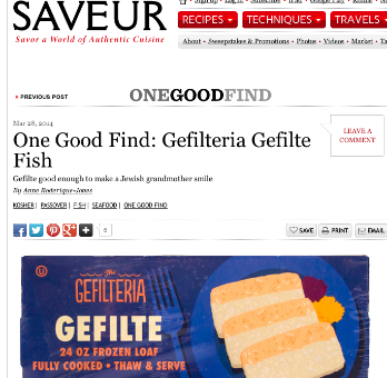 Saveur Magazine: One Good Find: Gefilteria Gefilte Fish