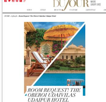 DuJour Magazine: Oberoi Udaivilas Hotel in Udaipur, India