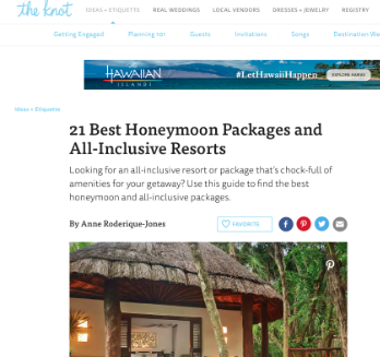 21 Best Honeymoon Packages and All-Inclusive Resorts for The Knot Magazine