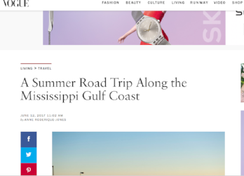 Vogue: A Summer Road Trip Along the Mississippi Gulf Coast