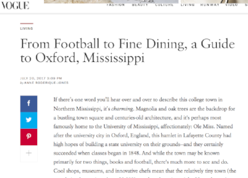 Vogue: A Guide to Oxford, MS