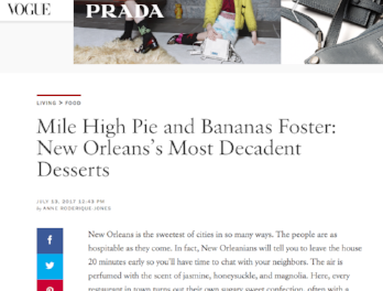 Vogue.com: Most Decadent Desserts in New Orleans
