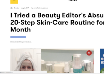 SELF.com: I Tried a 20-Step Beauty Routine