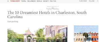 Town & Country: 10 Best Hotels in Charleston, SC
