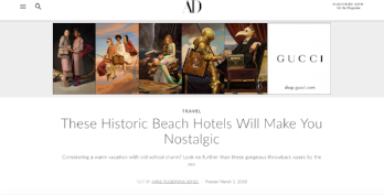 Architectural Digest: These Historic Beach Hotels Will Make You Nostalgic