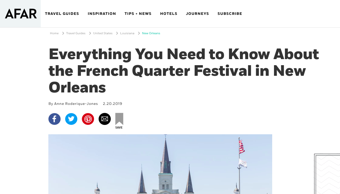 AFAR: Everything You Need to Know About the French Quarter Festival in New Orleans