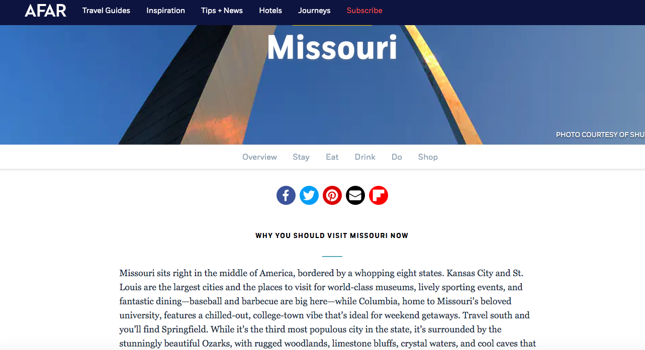 The full Missouri guide for AFAR