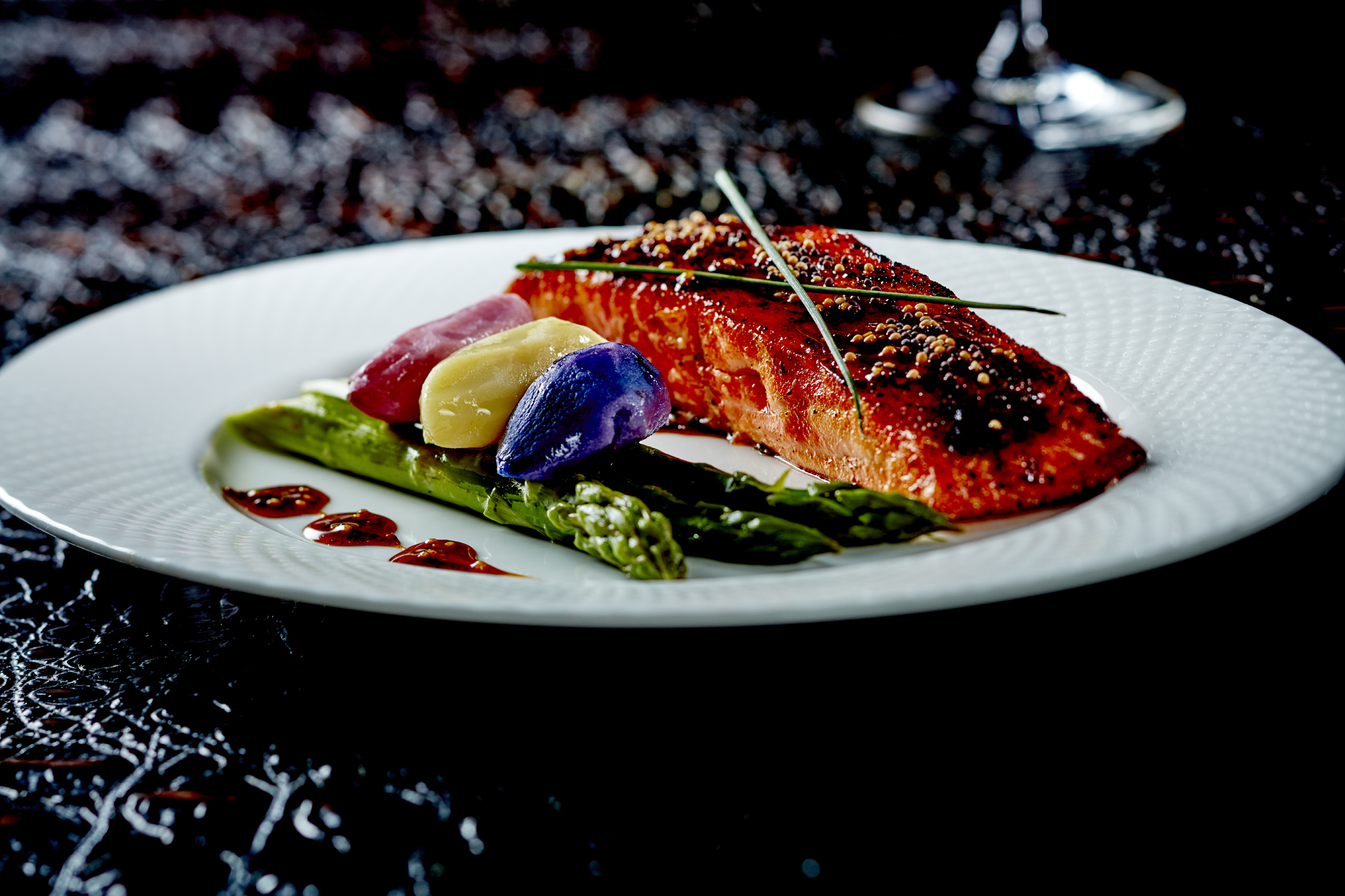 Hennessey Glazed Alaskan King Salmon