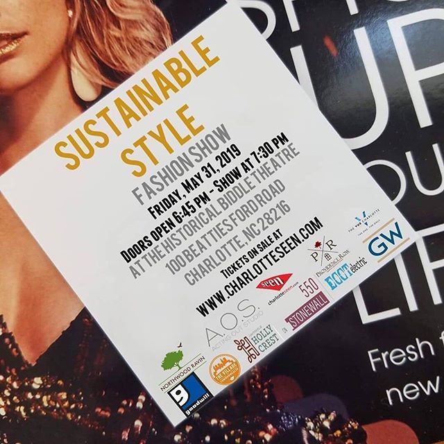Several AOS Students will be featured in this show.⠀ ⠀ Tickets on sale at buff.ly/2FMx89t for fashion show on FRIDAY, MAY 31, 2019 - SUSTAINABLE STYLE - Doors Open 6:45 pm - SHOW @ 7:30 pm - Location the Historical Biddle Theatre, 100 Beatties Ford Road, Charlotte, NC 28216. Sustainable Style. Designers include Malou Cordery, Madi Jenkins, Humble Connor, Mo Jazz, Tony Howard, Fiona Rose, Zersten, Shenika Walker, Shawn Foley, Aubrey Harley, Berhan Nebioglu. Designers will create a collection with UPcycled Clothing and the people (attendees) will vote for their favorite collection. The fashion industry is notorious for its massive waste problem; the big business is frequently called out for being one of the largest polluters globally. Nearly three-fifths of all clothing ends up in incinerators or landfills within a year of being produced. Beyond this, the Environmental Protection Agency found in 2014 that there were 15.1 million tons of textile waste, of which 12.8 million were discarded completely, while the average American throws away 70 pounds of clothing and other textiles each year. So let's take the unused, unwanted clothing and make a fabulous collection and make difference.⠀ #actingoutstudio #auditions #model #modeling #runway #showcase