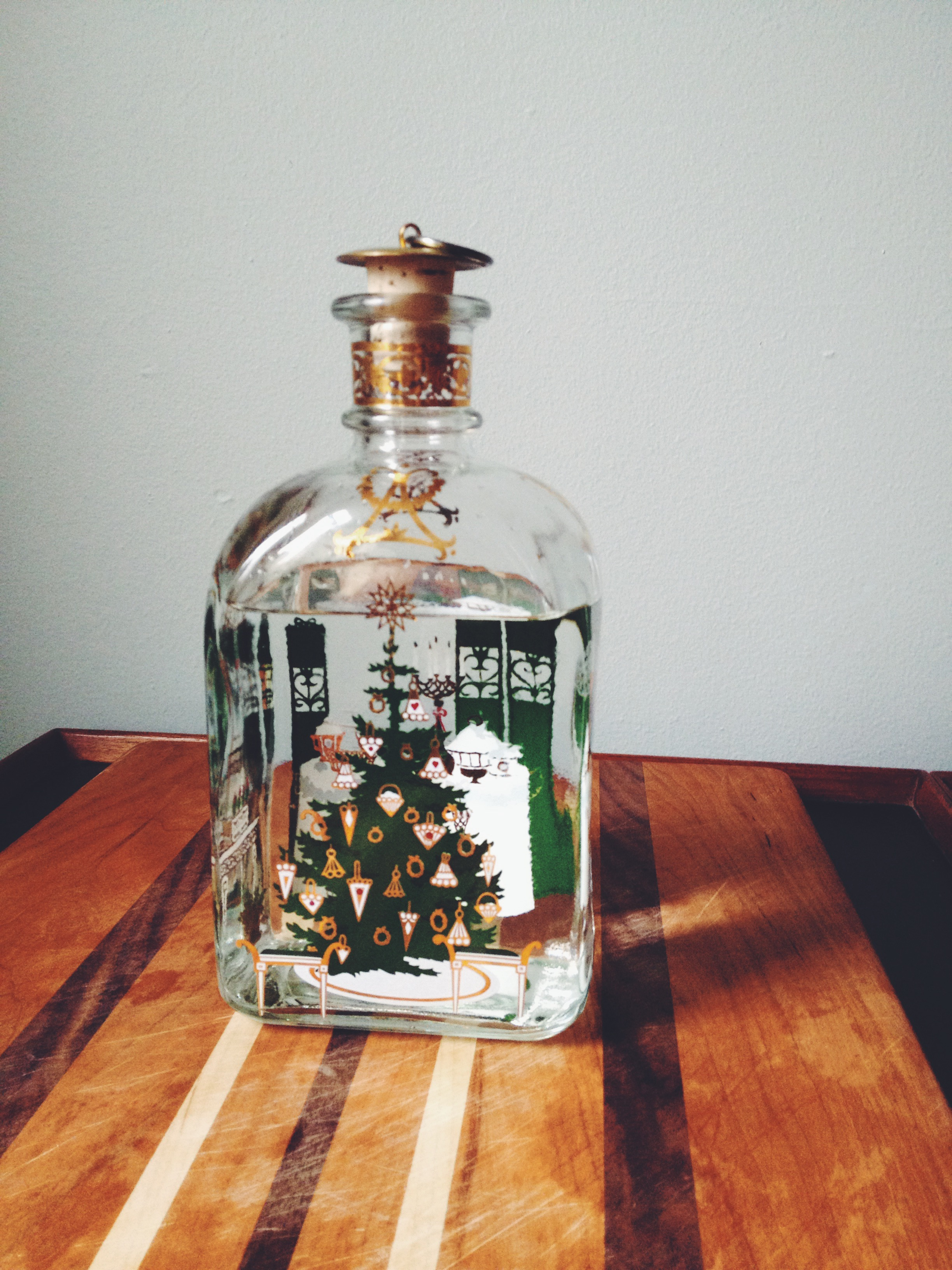 Krogstad Aquavit from House Spirits in our advent decanter