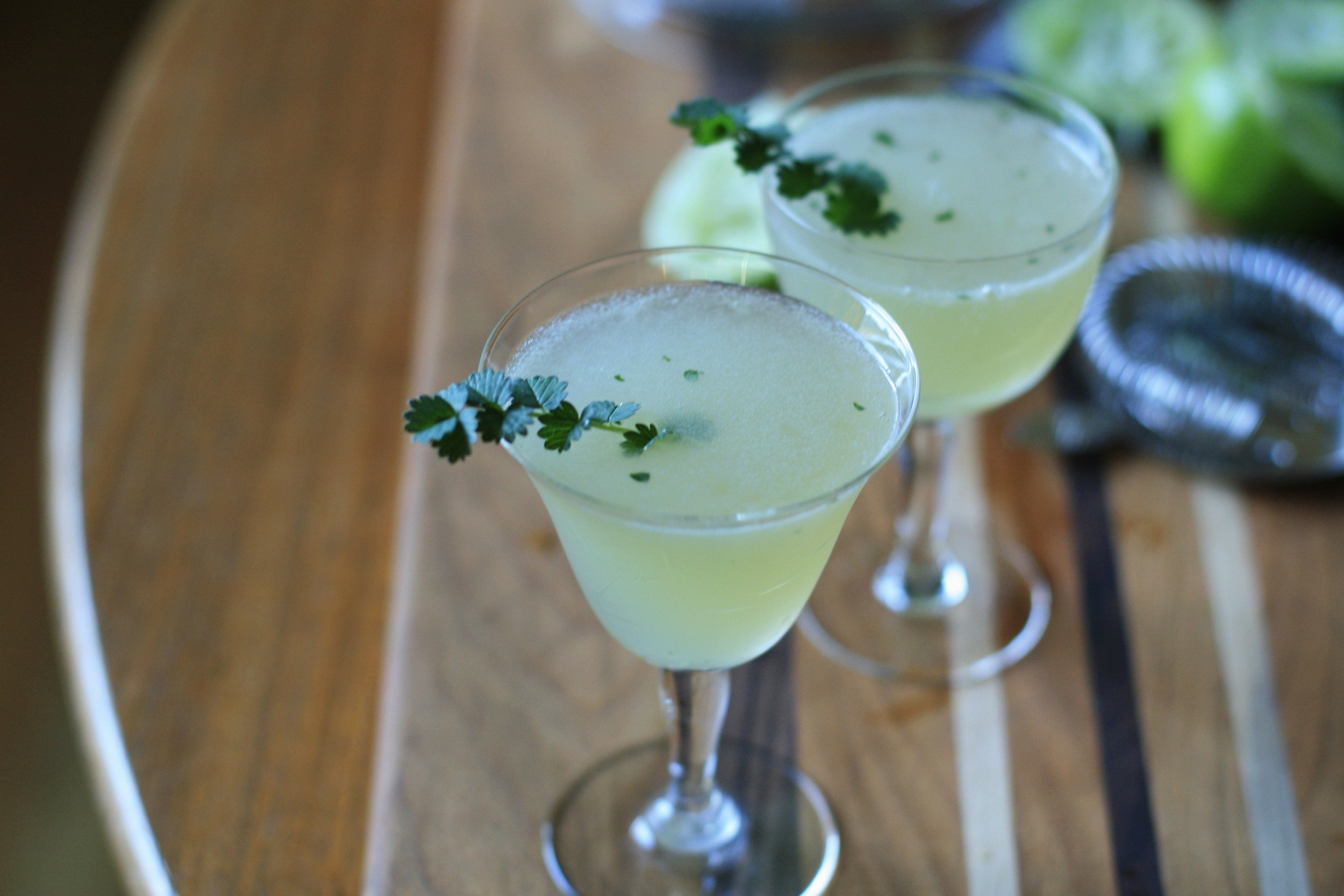 gimlets with salad burnet