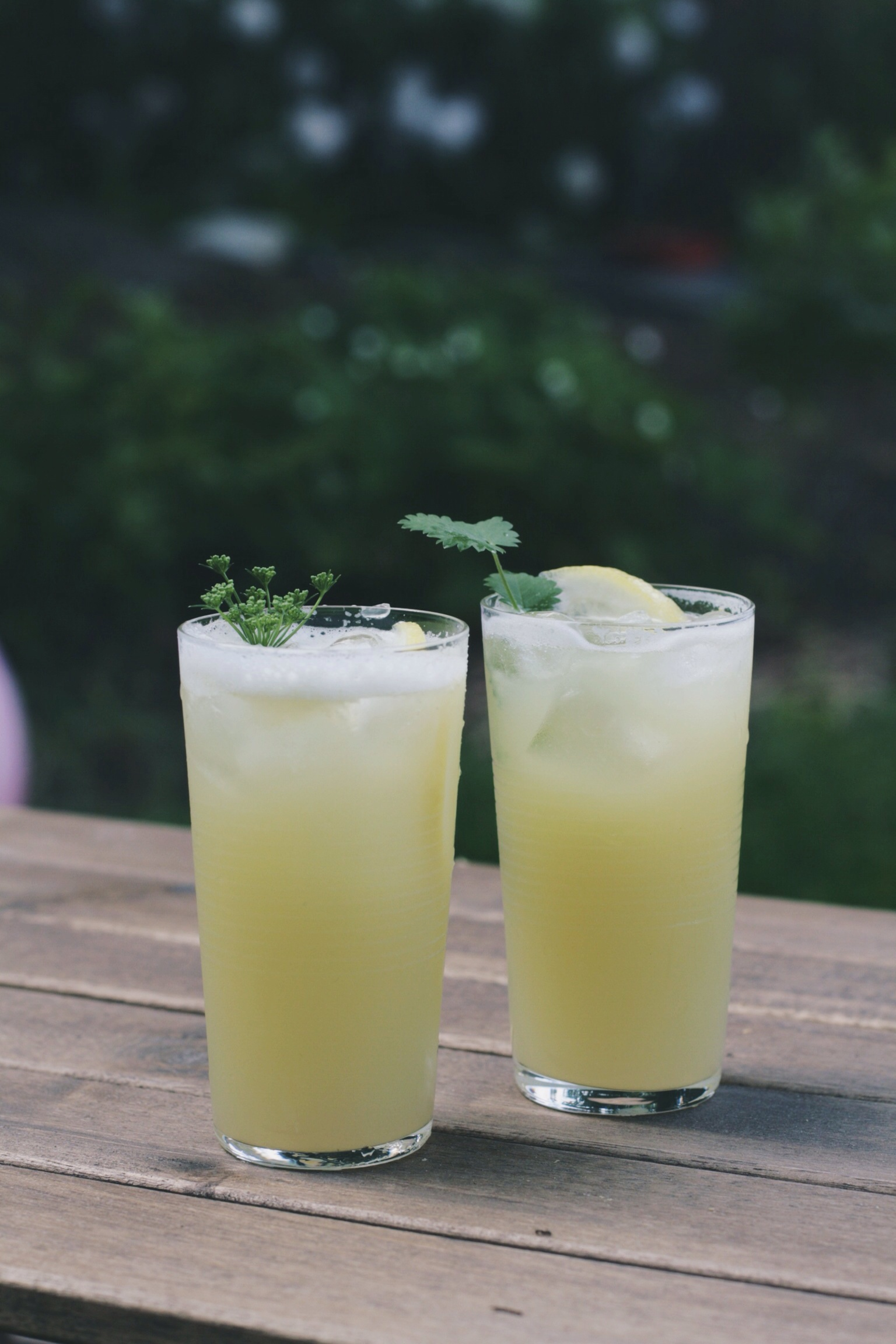 Garden cocktails are best enjoyed outside