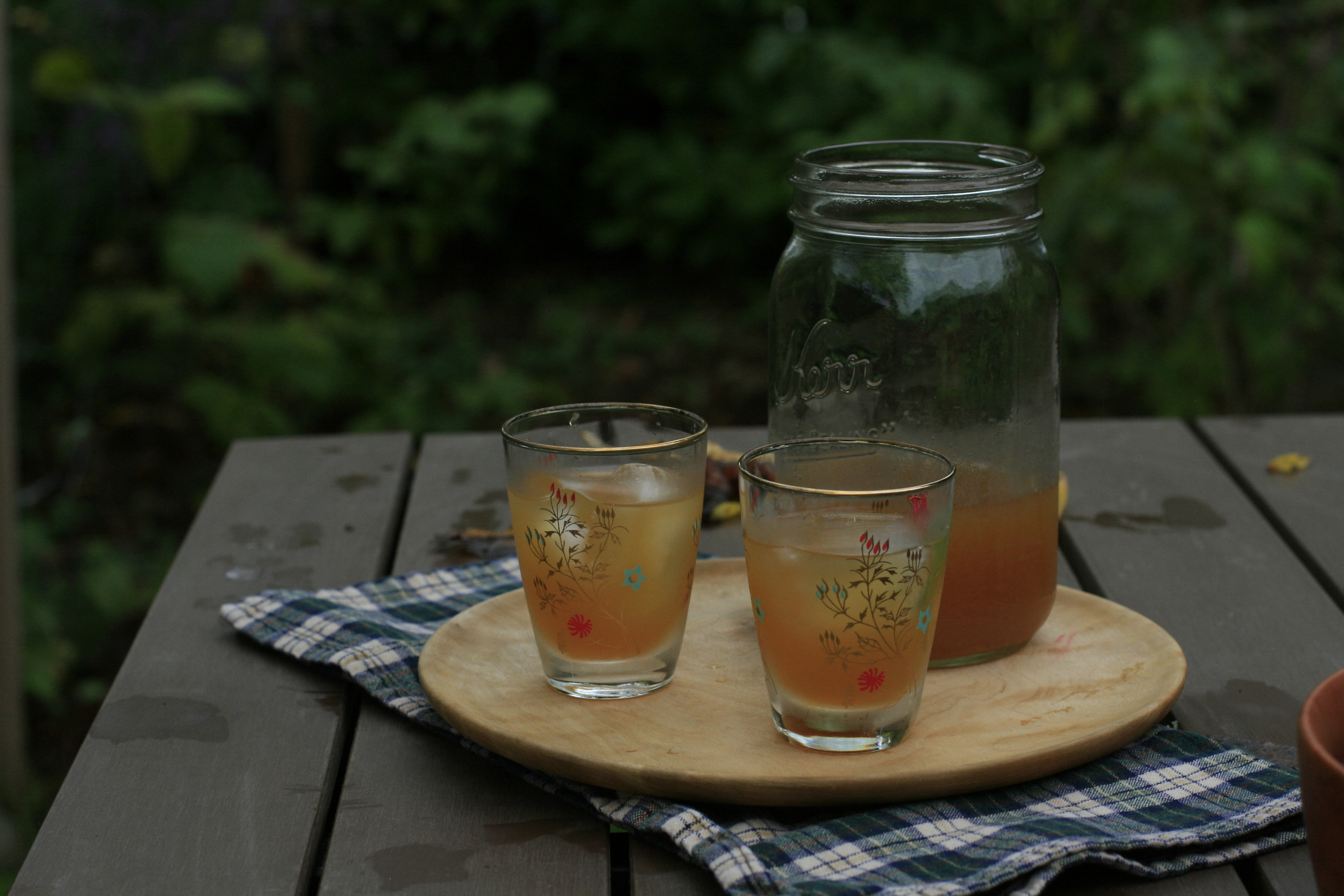 spiced cider shrub