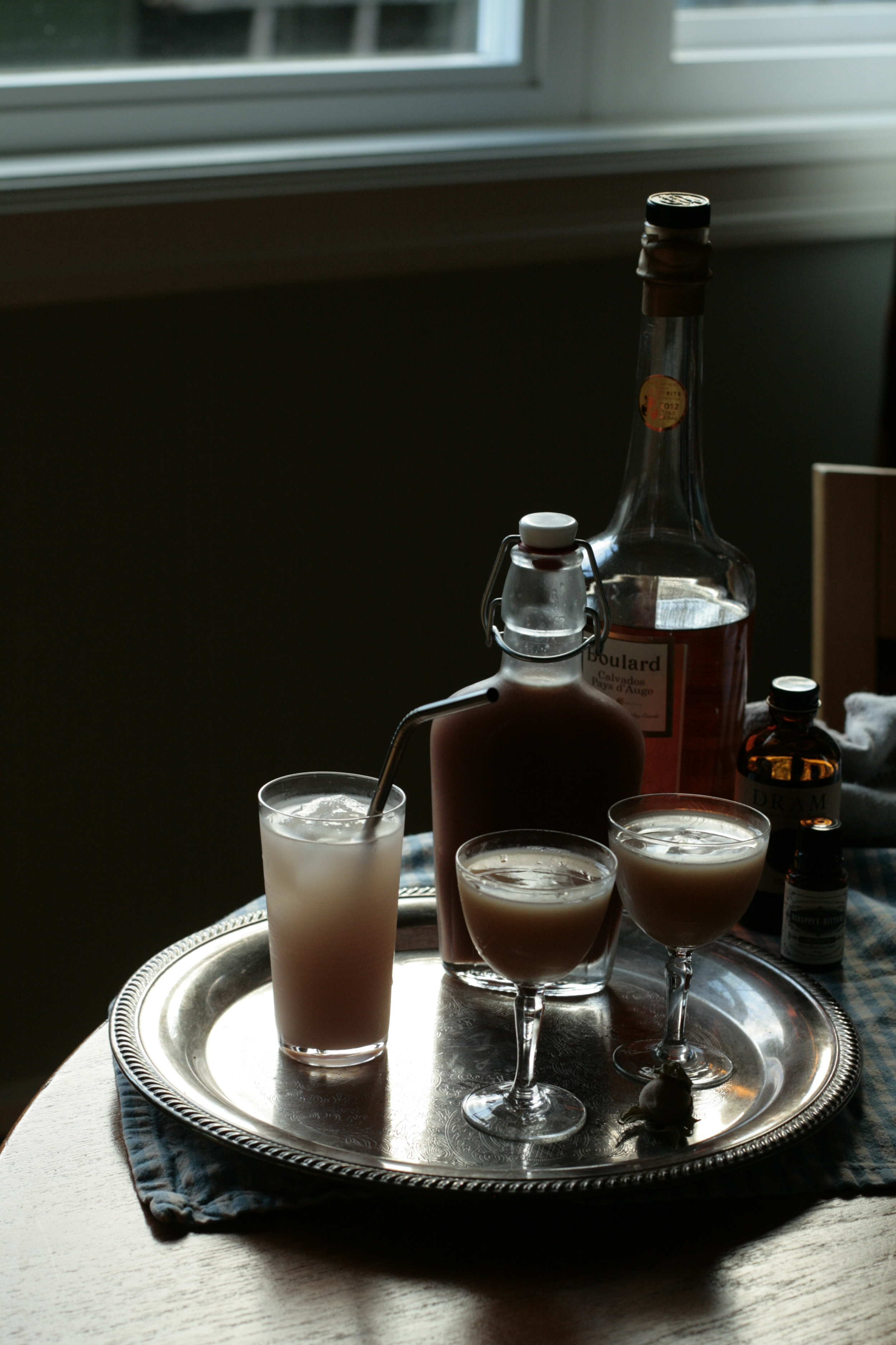 Hazelnut orgeat with a soda and Japanese cocktails