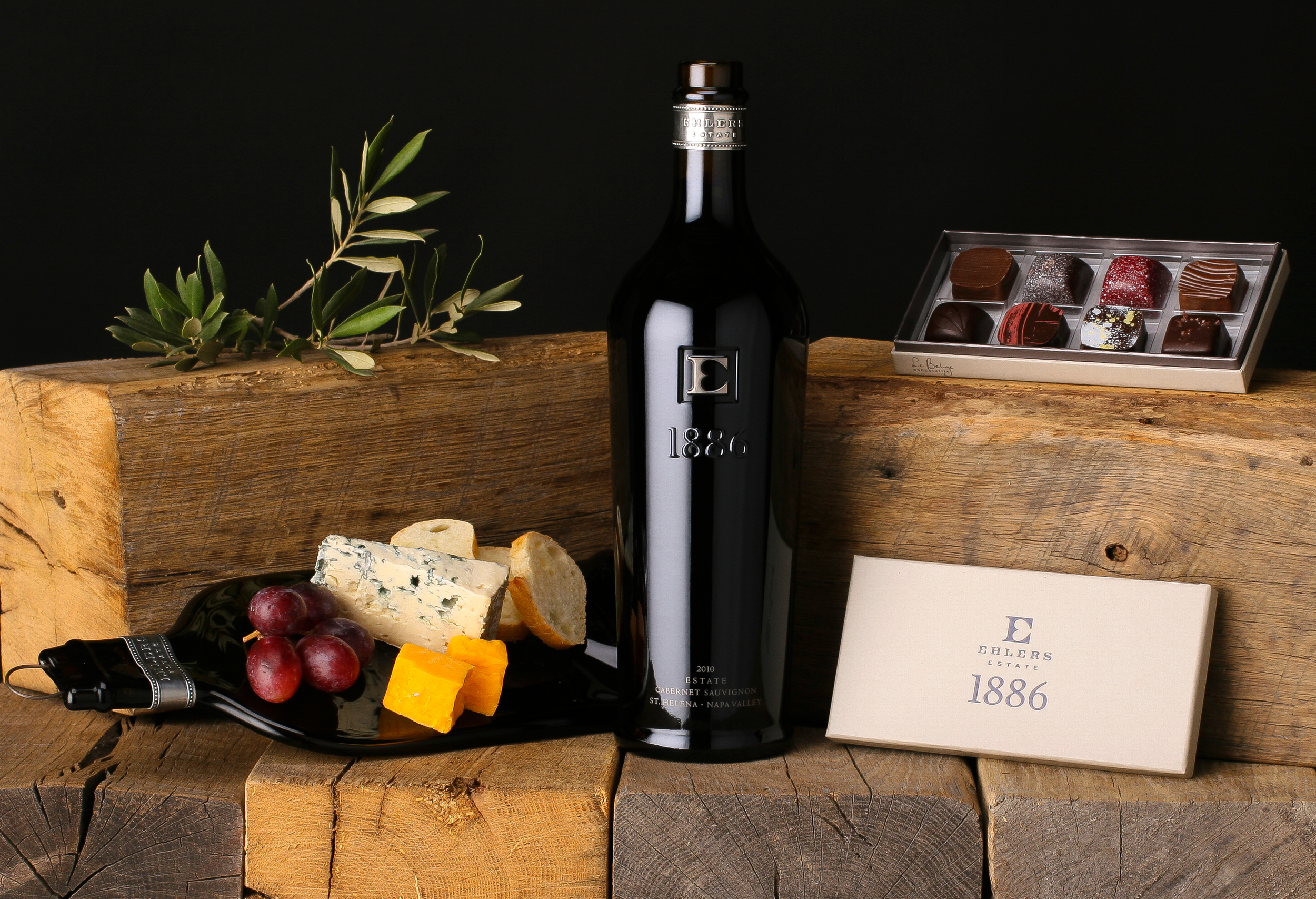 Product Photography Wine Cheese Chocolate