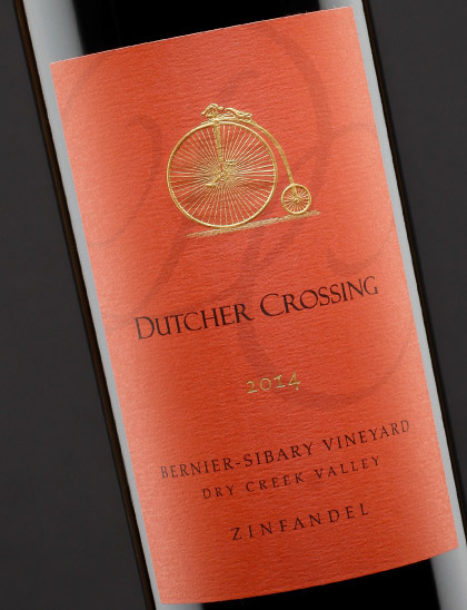 Bottle Shot Photography for Dutcher Crossing Winery in Healdsburg California.
