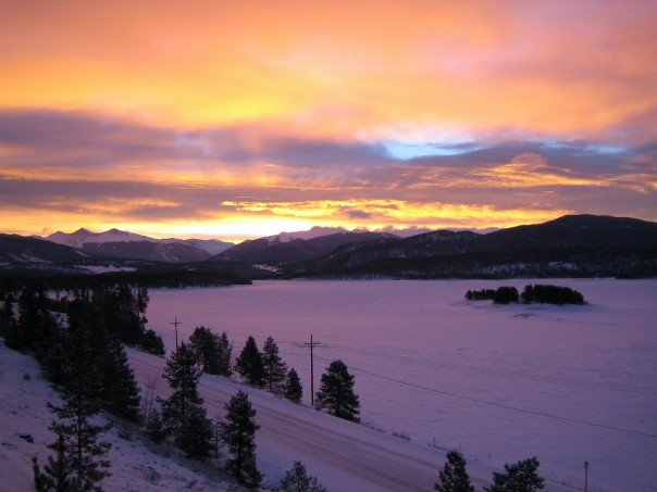 The view from my apartment in Frisco, Colorado.
