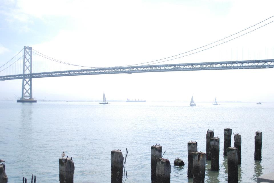 The San Francisco Bay Bridge from the Ferry Building, where my wife and I often spent Saturday mornings at the farmers market.