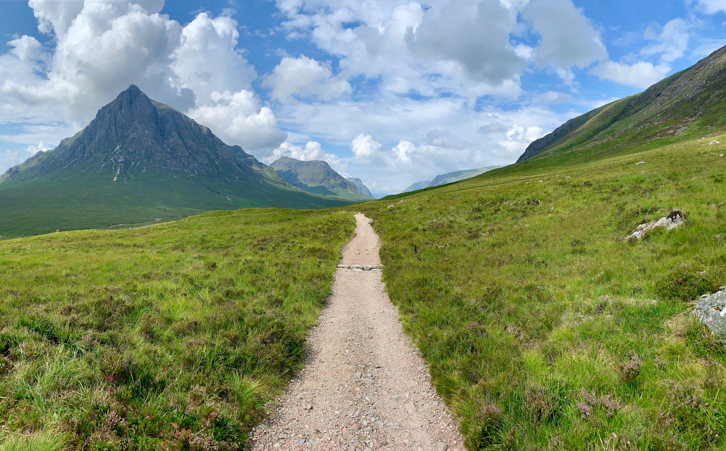 The Way looking NW with Stob Dearg on the left