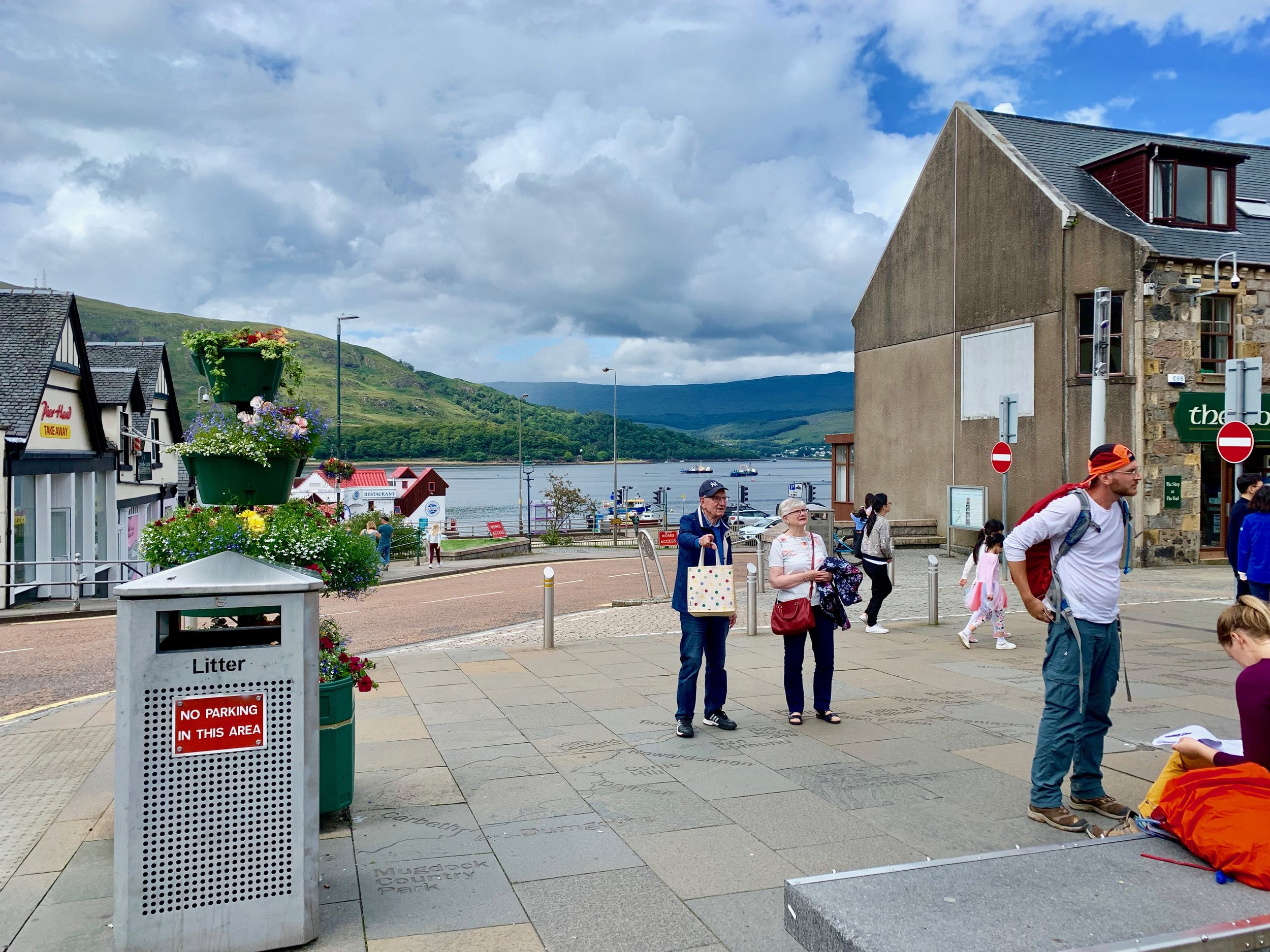 Fort William is a delightful place, even more so when it is sunny.