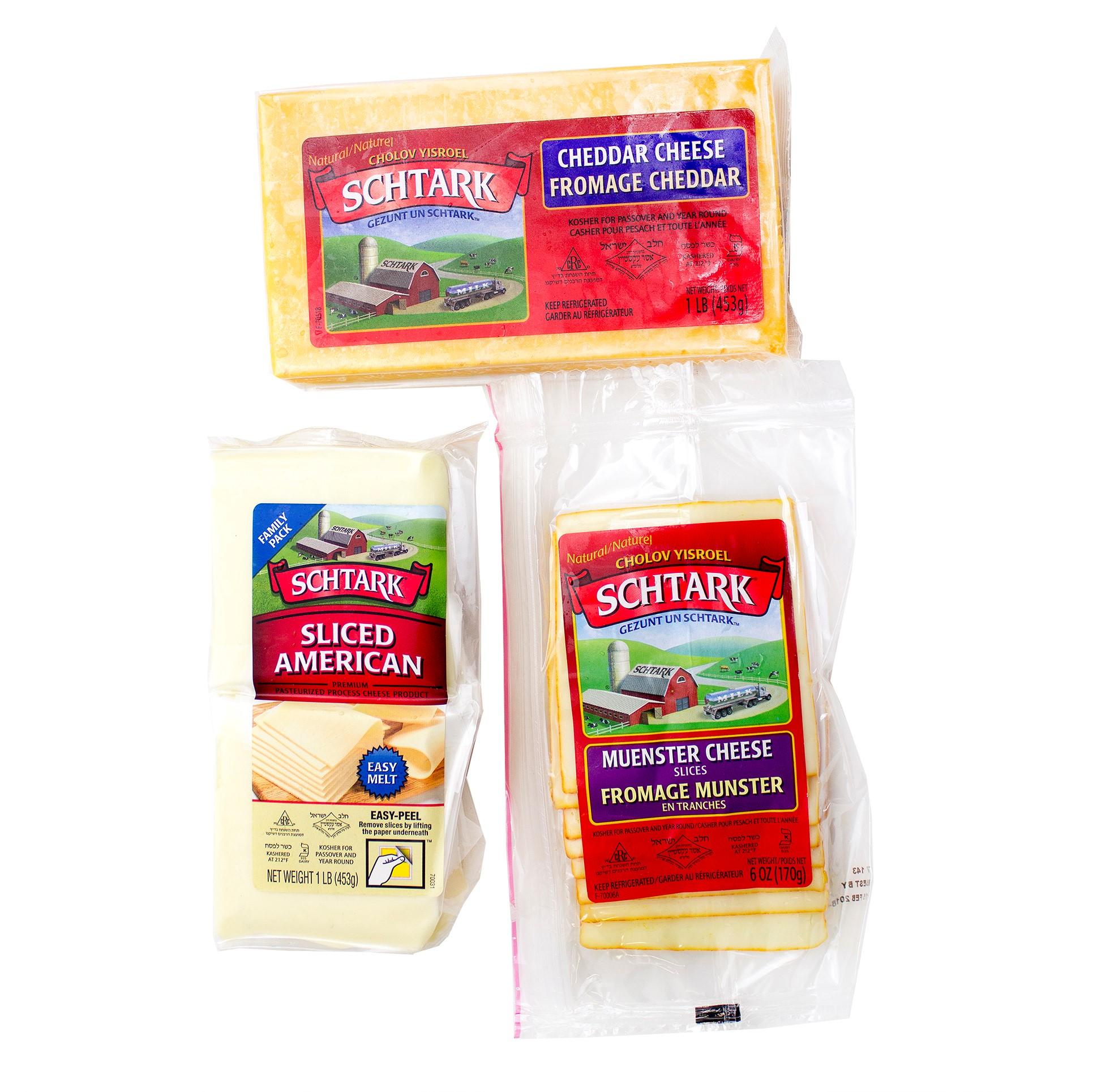 Schtark Super Kosher 3 Flavor Cheese Assortment