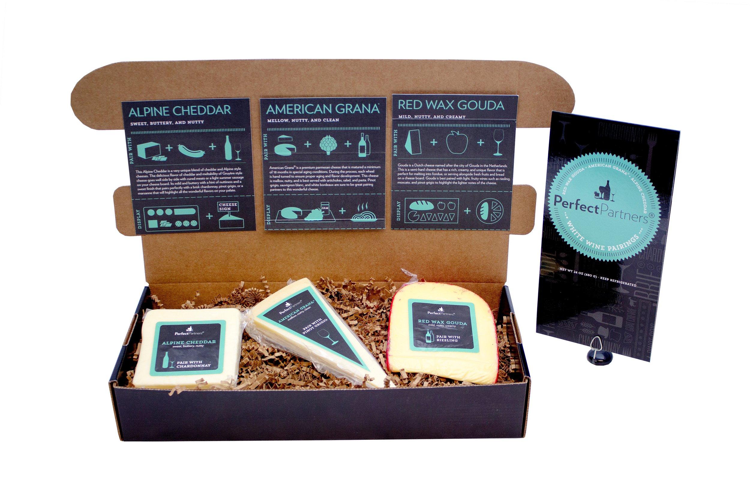 Cheese for White Wine Pairing Gift Box