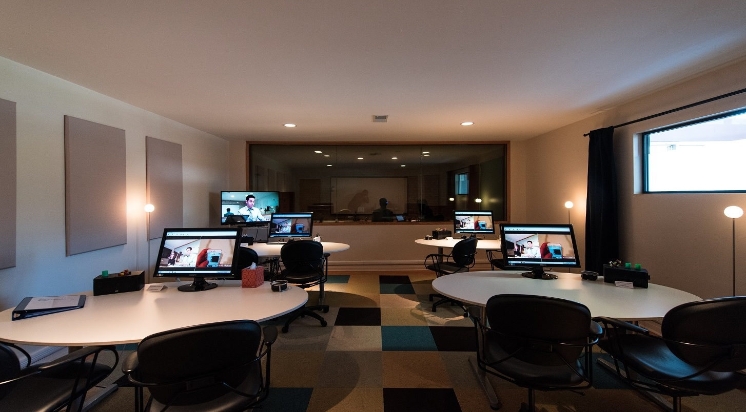 Observation area of our usability testing facility