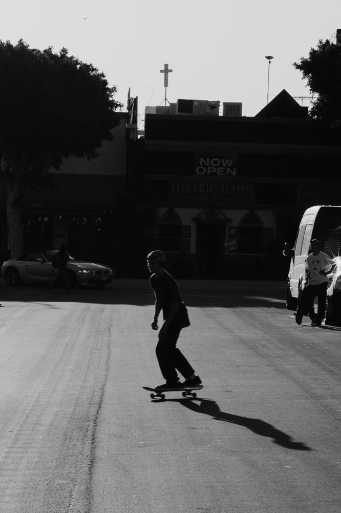 Skateboarding in the Los Feliz neighborhood of Los Angeles.  Brad Torchia is an LA-based editorial and commercial photographer.