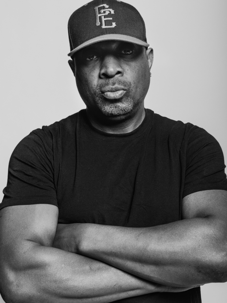 Chuck D of Public Enemy, photographed for The New York Times Magazine. Brad Torchia is an LA-based editorial and commercial photographer.