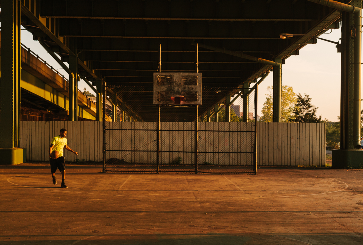 Basketball in New York City.  Brad Torchia is an LA-based editorial and commercial photographer.