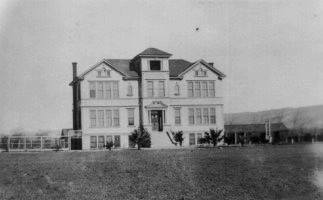 Original Washington High School Building on Peralta Blvd., c. 1891