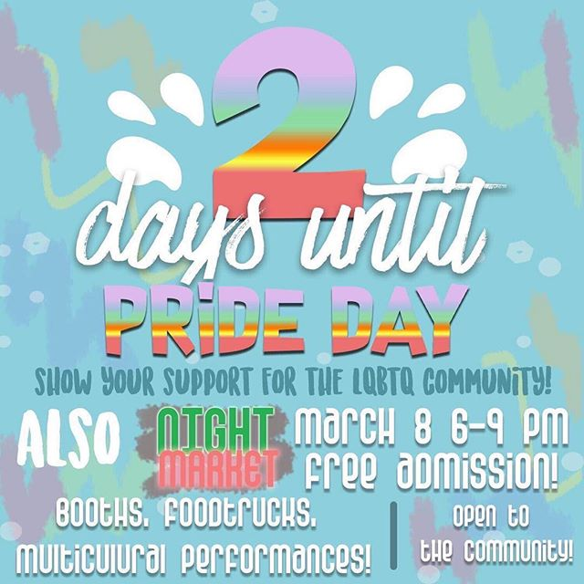 T- MINUS 2 DAYS UNTIL WHS'S FIRST EVER PRIDE DAY! SHOW YOUR SUPPORT FOR THE LGBTQ+ COMMUNITY BY WEARING THE COLORS OF THE RAINBOW FLAG! 🏳️🌈 + MAKE SURE TO GO TO THE PRIDE PICNIC BEHIND THE AMP @ LUNCH!