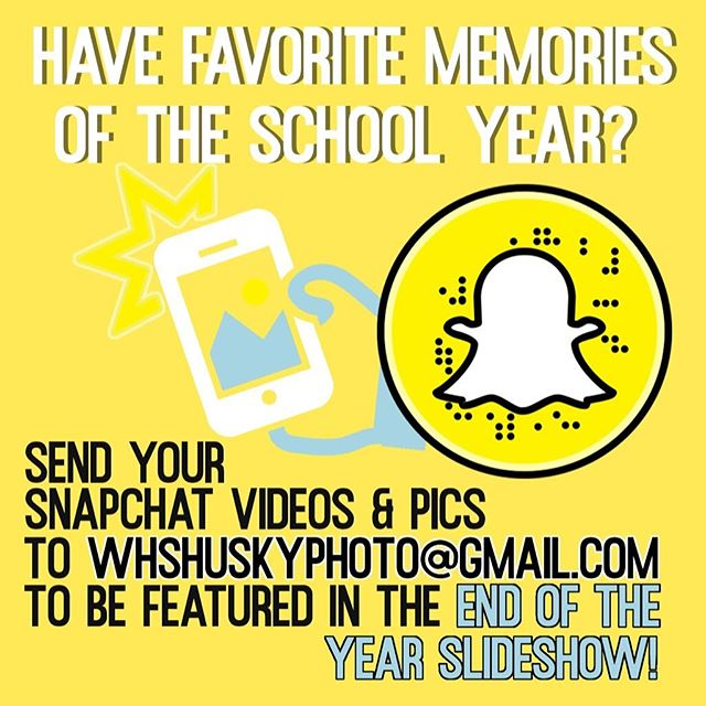 Want to be apart of the End of the Year Slideshow?? Submissions due FRIDAY & all MUST BE CLEAN!!