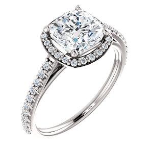 Sloane | Halo Style Engagement Ring
