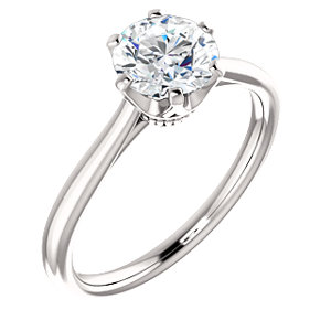 Anna | 6-prong Crown Solitaire Engagement Ring