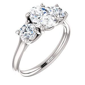 Charlotte | Round Shape 3-stone Engagement Ring