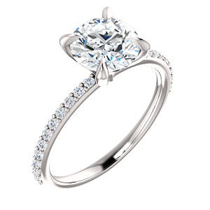 Aurora | Accented Engagement Ring with Claw Prongs